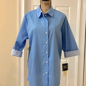 NWT Allison Daley wrinkle resistant blouse